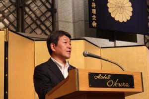 茂木敏充経済産業大臣(写真)をはじめ多数のご来賓から祝辞を賜った